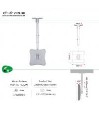 ขาแขวน LCD TV 23 - 37 นิ้ว_ติดเพดาน รุ่น VM-SL10C-R-L