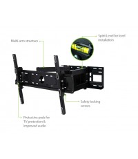 Full Motion Multi-Arm TV Wall Mount_LNRFM600XLB