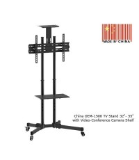 China\'s OEM-1500 LCD/ LED TV STANDs for 32-55 inch with Video-Conference Camera Shelf