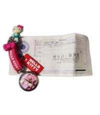 นาฬิกาพกติดตัว ของลิขสิทธิ 100 brand hello kitty  พร้อมใบรับประกันจากญี่ปุ่น