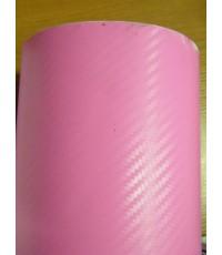 สติกเกอร์เคฟล่า คาร์บอน สี ชมพู สั่งจำนวน 6 - 10 เมตร ส่งฟรี EMS