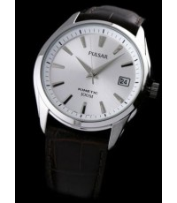 NEW MENS PULSAR by SEIKO KINETIC LEATHER 100M WATCH