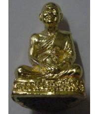 รูปหล่อหลวงพ่อฤาษีลิงดำ วัดท่าซุง อุทัยธานี รุ่น 1 วัดวีระโชติฯ เนื้อทองเหลืองชุบทอง