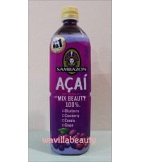 พร้อมส่ง Sambazon : Acai Mix Beauty 100 Drink  900 ml.
