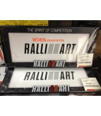 กรอบป้ายทะเบียน RALLI ART แท้