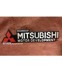 LOGO โลโก้ MITSUBISHI อลูมิเนียม งานอย่างดี
