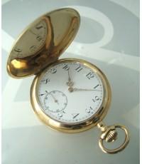นาฬิกาพกไขลาน ancre levees visibles 15 rubis pocket vintage ทองคำสลักอักษร breguet  ขนาดตัวเรือน 50m