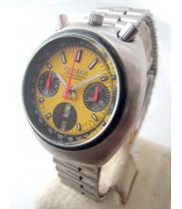 citizen มดเอ็กซ์ 1970 auto chronograph ขนาด 38mm for man, lady หน้าปัดเหลืองสดประดับหลักเวลาขีดพรายน