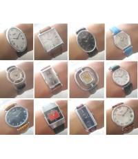 นาฬิกา camy swiss watch ไขลาน 1980 for lady มีหลายรูปแบบ สภาพ new old stock