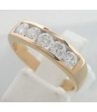 แหวนทองคำประดับเพชรแท้ขนาด 0.14x5 กะรัต น้ำขาว 96 เบลเยี่ยมคัต ไฟดีไม่มีตำหนิ ตัวเรือนทอง 90 น้ำหนั