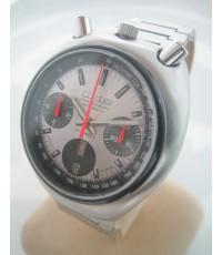 citizen มดเอ็กซ์ 1975 auto chronograph for man , unisex size 38mm หน้าปัดชมพูสไลด์เงาประดับหลักเวลาข