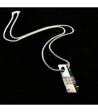 จี้ห้อยคอดีไซน์พร้อมสร้อยทองขาวประดับเพชรแท้ 18 เม็ดรวมน้ำหนัก 0.40 กะรัต ตัวเรือนจี้ทองขาว 18k (750