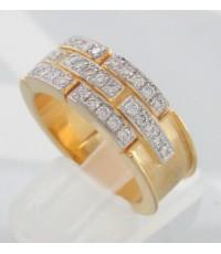 แหวนทองฝังเพชรแท้ 35 เม็ด รวมน้ำหนัก 0.56 กะรัต ตัวเรือนทอง 90 น้ำหนักช่างรวม 15.9 กรัม size 57.5 (