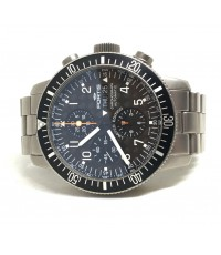 fortis B-42 Cosmonauts Limited 151/500 Auto chronograph day-date ขนาด king size 42mm หน้าปัดดำเคฟล่า