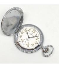 นาฬิกาพก pocket watch 1970 DAMAS ขนาดเรือน 41mm หน้าปัดบรอนซ์พิมพ์อารบิคพรายน้ำ เดินเวลา 2 เข็มครึ่ง