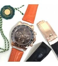 งานสั่งตัดขึ้นรูปได้หลากหลายประเภทนาฬิกา ทำได้หลายขนาด 18, 19, 20, 22, 24, 26, 28mm หากต้องการความแต