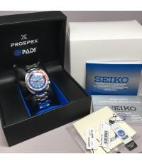 SEIKO PADI Spacial 2016 for Diver 200m Day-date 45mm หน้าปัดน้ำเงินสไลด์เงา บอกวันและวันที่ตำแหน่ง 3