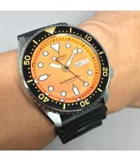 SEIKO Diver 200m 7S26.0020 Japan movement ขนาด 42.5mm หน้าปัดส้มพิมพ์พรายน้ำกลมใหญ่ บอกวันและวันที่ต
