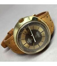 OMEGA Dynamic 1970 Auto day-date Man size 41x36mm หน้าปัด Gold-Gray บอกวันและวันที่ตำแหน่ง 3 นาฬิกา