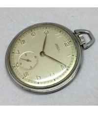 นาฬิกาพกไขลาน pocket watch Henex 1960 ขนาดตัวเรือน 46 mm หน้าปัดขาวครีมประดับหลักเวลาอารบิค เดินเวลา