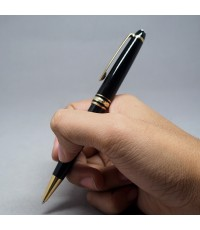 ปากกาหมึกซึม montblanc meisterstuck classic ตัวด้ามอครีลิคดำแข็ง ชุดเหน็บเคลือบทอง สภาพเดิมสวย