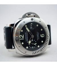 PANERAI submersible auto date PAM024 limited J03XX / 1300 for man size 44mm หน้าปัดดำประดับหลักเวลาพ