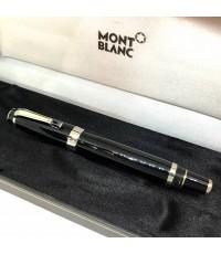 MONTBLANC Boheme Fountain pen วัสดุตัวด้าม Black Resin ปลายปากเป็นทอง 14k white gold ชุดเหน็บเคลือบแ