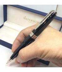 ปากกา WATERMAN Paris Ball point ball point Pen ตัวเรือนอครีลิคดำเงา ชุดเหน็บแสตนเลสสตีลเงา สภาพสวยพร