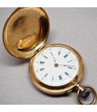 นาฬิกาพกไขลาน CYLINDRE 10 rubis pocket watch 1900 ขนาดตัวเรือน 33 mm หน้าปัดกระเบื้องขาวพิมพ์โรมันดำ