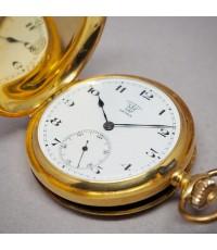 นาฬิกาพกไขลาน F.BACHSCHMID pocket watch 1900 ขนาดตัวเรือน 45 mm หน้าปัดกระเบื้องขาวพิมพ์อารบิคดำ เดิ