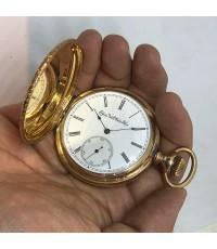 นาฬิกาพกไขลาน ELGIN NATL WATCH CO, pocket watch 1900 ขนาดตัวเรือน 51 mm หน้าปัดกระเบื้องขาวพิมพ์โรมั