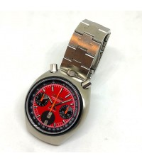citizen มดเอ็กซ์ 1975 auto chronograph for man , unisex size 38mm หน้าแดงพูสไลด์เงาประดับหลักเวลาขีด