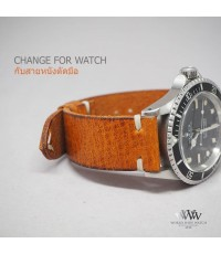 ดีไซน์สายหนังวัว ให้กับนาฬิกา ROLEX Submariner Vintage และรุ่นอื่น สีอื่นได้อีกมากมาย ทั้งหนังจระเข้