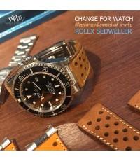 ดีไซน์สายหนังวัว ให้กับนาฬิกา ROLEX SEDWELLER และรุ่นอื่น สีอื่นได้อีกมากมาย ทั้งหนังจระเข้ หนังวัว