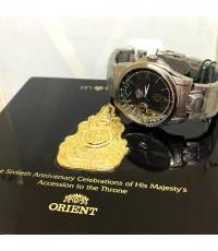 ORIENT Special Edition ผลิตจำนวนจำกัด 50XX /6000 เฉลิมฉลองครองราช 60 ปี รัชกาลที่ 9 ขนาด 41mm หน้าปั