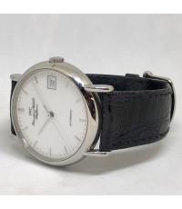 IWC Portofino automatic Men\'s watch / Unisex size 34mm หน้าปัดขาวเคลือบกระเบื้องพิมพ์โลโก้ดำ บอกวัน
