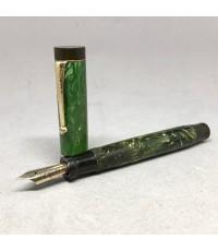 GO.S.PARKER Duofold JADE Fountain Pen Made in USA  ขนาดใหญ่ ยาว 11.5cm ปากเขียนทอง 14k 585 ปากเขียนข