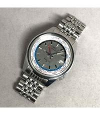 SEIKO Word Time Vintage 1st model 1969 รหัส 6117-6010 ใส่ได้ทั้งชาย และหญิง size 38 mm หน้าปัดบรอนซ์