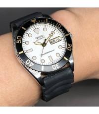 SEIKO Vintage 1990 diver watch รหัส 7s26-0050 ใส่ได้ทั้งชาย และหญิง size 38 mm หน้าปัดขาว ประดับหลัก