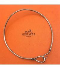 สร้อยคอ Hermes Vintage Hook วัสดุตัวเรือน Silver stering 925, ขนาดรวบวง 41cm เส้นผ่าศูนย์กลาง 12.5cm