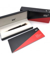 Ballpoint pen Montblanc Heritage rouge noir snake in lacquer chrome trim good condition Pre-owned