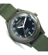 BEDWIN x Schott NYC Military Manual Winding Unisex ขนาด 35 mm.