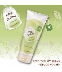 (Pre-order) Etude House Happy Teatime Cleansing Foam (Green Tea) โฟมล้างหน้าชาเขียว