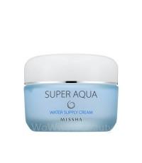 (Pre Orde) Missha Super Aqua Water Supply Cream เจลครีมมอบความชุ่มชื้นอย่างเต็มเปี่ยม ผิวแข็งแรงขึ้น