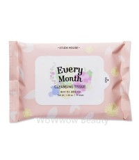 (Pre Order) Etude House Every Month Cleansing Tissue ทิชชู่เปียกสำหรับเช็ดทำความสะอาดเครื่องสำอาง