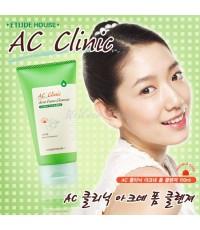 (Pre Order) Etude AC Clinic Acne Foam Cleanser 150ml. โฟมล้างหน้าสำหรับผิวเป็นสิว ให้สิวยุบเร็วขึ้น