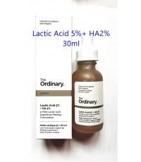 (หมดค่ะ) The Ordinary Lactic Acid 5 + HA 2 30ml. เซรั่มออดินารี่สูตรผลัดเซลล์ผิว หน้าใส ชุ่มชื้น
