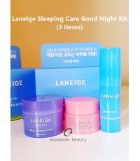 (พร้อมส่ง) Laneige Sleeping Care Good Night Kit (3 items) มาส์กลาเนจขนาดทดลอง 3 ชิ้