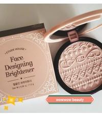(Pre Order)  Etude Face Designing Brightener (pink beam) ไฮไลท์เพิ่มมิติ ผิวเปล่งประกายฉ่ำวาว