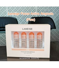 (ป้ายไทย) Laneige Focus Active Ampoule Soy Peptide Set (7mlx4) สูตร Firm ให้ผิวหน้าเต่งตึง กระชับ